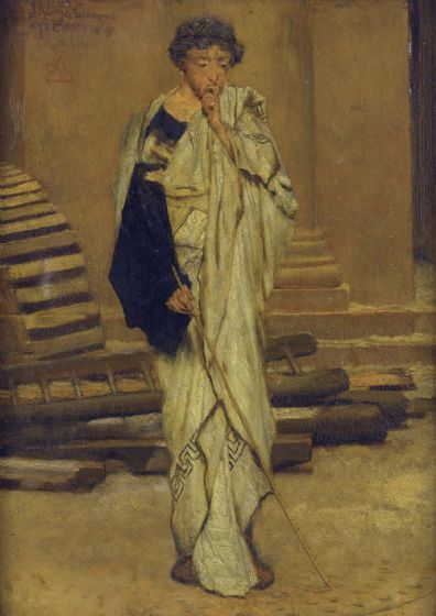 Alma-Tadema, Sir Lawrence: The Roman Architect. Fine Art Print/Poster. Sizes: A4/A3/A2/A1 (003807)